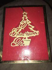 Lenox Vintage Porcelain Christmas Tree Ornament Nib Rare