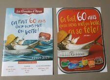 """Catalogue + Flyers """" ça fait 60 ans qu'on Nous Met En Boite """" Sardines Gonidec"""