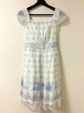 Secret Honey Disney Cinderella & Castle Carriage White Chiffon Dress JAPAN