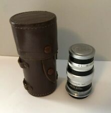 Canon Rangefinder Leica 100mm f:3.5 lens with caps & Leather Case