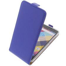 étui pour Cubot ARC EN CIEL Flipstyle Etui cellulaire Coquille Flip caisse bleu