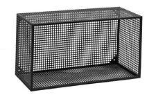 ALBA, 04 Wandregal Metall 2er-Set Moderne Regale Metall, Industrie Look schwarz