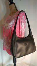 Longchamp Black Pebbled Leather Hobo Shoulder Bag Purse