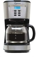 Capresso Programmable 12-Cup Coffee Maker with Glass Carafe