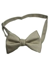 """Mens Patterned Sand Colored Pre-tied Clip On Bow Tie Adjustable Up To 21"""""""