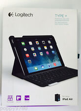 Logitech Type+ Protective Wireless Keyboard Folio Cover Case iPad Air - Bla