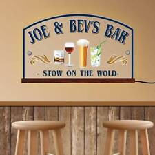 Wall Mounted Light Up LED Sign, Man Cave Light Sign, Custom Home Bar Beer Neon