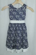 Busy Bees Boutique Girls Size 6 Dress Blue Floral