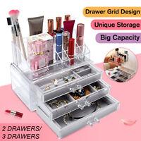 ✅ Acrylic Transparent Make-up Case Jewelry Cosmetics Holder Necklace 2/3  🔥 ✌