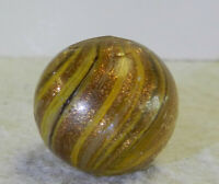 #12598m Large .78 Inches German Handmade Onionskin Lutz Marble *Near Mint*