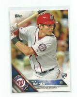TREA TURNER (Washington Nationals) 2016 TOPPS ROOKIE CARD #103