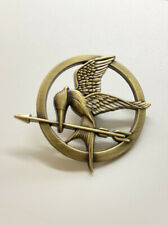 Gate Films Replica Bronze Tone Metal Pin Brooch Hunger Games Mocking Jay Lions