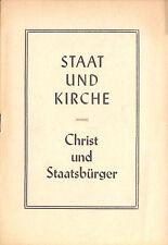 Propagandabroschüre, Staat und Kirche - Christ und Staatsbürger [in d. DDR] 1955