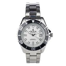 Croton Men's CA301294BKSL Automatic Date Silver-Tone Bracelet 42mm Watch