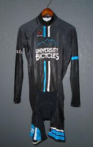 PACTIMO Cycling BIB Shorts FULL BODY Long Sleeve Bike Suit PADDED Mens LG