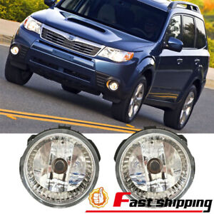 Fits Subaru Forester 2009-2013 Clear Lens Fog Lights Front Bumper Lamps