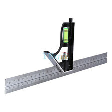 "300mm 12"" Adjustable Engineers Combination Square Set Kit Right Angle Ruler AM"