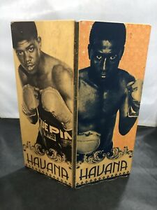 "Vintage HAVANA CUBA Boxing Wood Advertising 11.75"" Folding Sign"