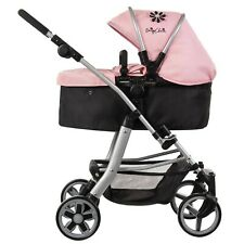 Daisy Chain Connect 5 in 1 Dolls Pram - Classic Pink Fabric. For ages 4-8 years.