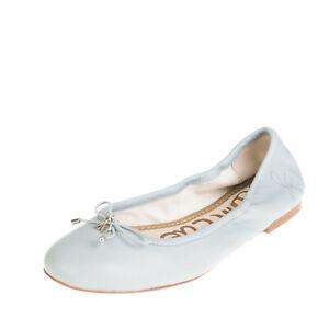 RRP €110 SAM EDELMAN Leather Ballerina Shoes Size 37 UK 5 US 7 Bow Slip On