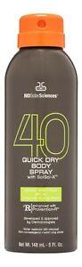 MDSolarSciences Quick Dry Body Spray SPF 40 5 fl oz