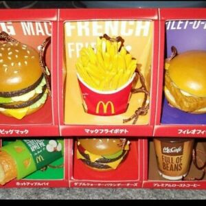 2010 McDonald's Japan Food Strap Set of All 6 Type Limited Part1 Toy