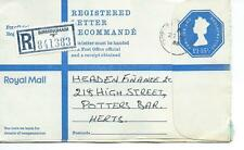 "GB - REGISTERED ENVELOPE - SIZE G - £1.15.5p - BIRMINGHAM ""F"" - 841383"
