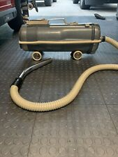 Vintage Electrolux Blue Canister Model G Vacuum retractable power cord w/ Hose