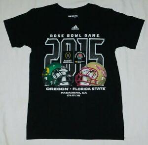 Adidas t shirt Rose Bowl 2015 Oregon Ducks vs Florida State Seminoles NCAA Small