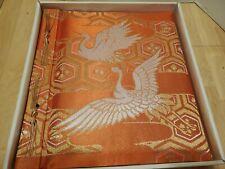 Photo Memory Album Scrapbook White Cranes 12x13 Japan musical vtg with box