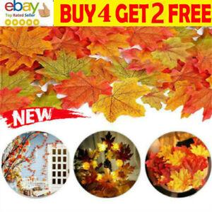 Artificial Maple Leaf Autumn Fake Leaves Crafts Wedding Halloween XMAS Decor