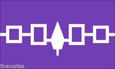 """IROQUOIS INDIAN TRIBE FLAG  5"""" HELMET BUMPER TOOLBOX STICKER DECAL MADE IN USA"""
