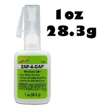 Zap-a-gap cyano medium ca + viscosité super colle 1oz (28,3 g) PT02 (vert)