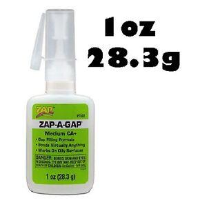 ZAP-A-GAP Cyano Medium CA+  Viscosity Super Glue 1oz (28.3g) PT02 (Green)