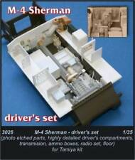 Czech Master 1/35 M4 Sherman Driver's compartment for Tamiya kit # 3026