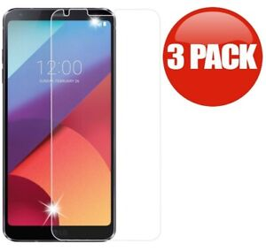 3-Pack Premium Tempered Glass Screen Protector For LG G6