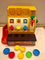 Vintage Fisher Price Cash Register Fun Toy Kitsch 80s BUY TWO AND SAVE!!