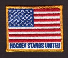 Hockey Stands United USA Flag Embroidered Hockey Iron On Cloth Crest Patch