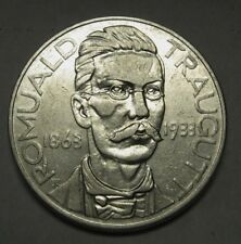 Rare 1933 Poland 10 Silver Zlotych Romuald Traugutt XF Nice Piece For Your Set
