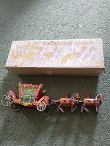 A Wells Brimtoy tinplate 1937 Coronation Coach with original box