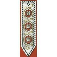 Tudor Rose Bookmark Counted Cross Stitch Kit Textile Heritage