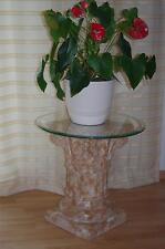 Runder Glas Beistelltisch Telefontisch Blumensäule Nachttisch Blumentisch Säule
