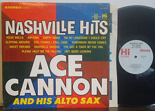 ACE CANNON COMBO Nashville Hits RARE 1965 HI STEREO LP Bobby Emmons-Reggie Young