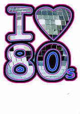 I LOVE THE 80'S GLITTERBALL DISCO IRON ON T SHIRT TRANSFER
