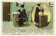 MACHINE à COUDRE.LES NOUVEAUX MEUBLES SINGER.PUBLICITé.ADVERTISEUR.Sewing