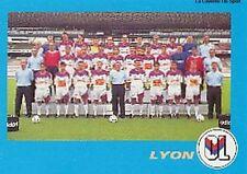 N°010 EQUIPE TEAM LYON LYONNAIS VIGNETTE PANINI FOOTBALL 96 STICKER 1996