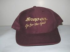 Snap-On Go For The Gold Burgundy Adjustable Snapback Strap OSFM Cap Hat