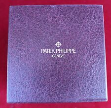 PATEK PHILLIPE Geneve Large Outer Watch Box Case Burgundy Authentic Original