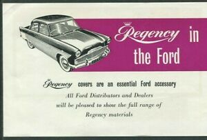 FORD - Regency seat covers - UK small accessory sales brochure/sheet pricelist
