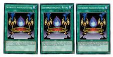 3 X Schwarzes Magisches Ritual YGLD-DEC32, Common, Playset, Mint